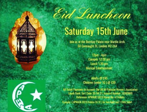 Eid Luncheon – Sat 15 June